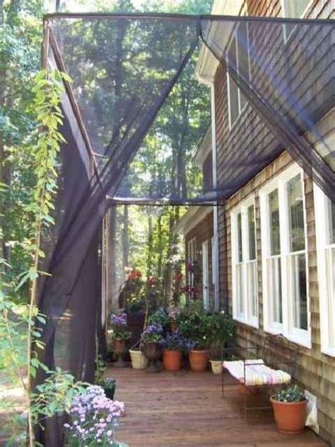 Pergola Mosquito Curtains Mosquito Netting Curtains For A Diy Screen Patio I Want To Fix Up My Patio Pinterest Decks