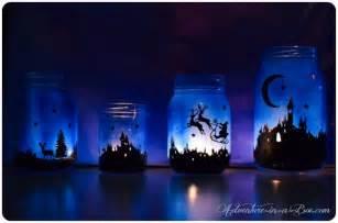 magical christmas lanterns town silhouette printable