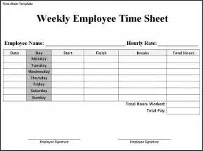 Easy Timesheet Template by Free Printable Weekly Timesheet Template And Form Sle