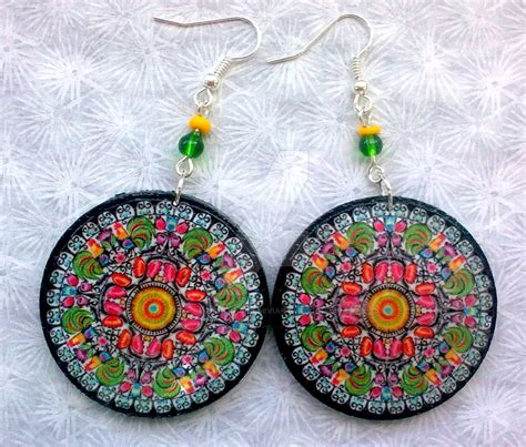 decoupage earrings folk decoupage earrings by eibhlin san on deviantart