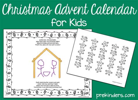 christian advent calendars to make advent calendar prekinders