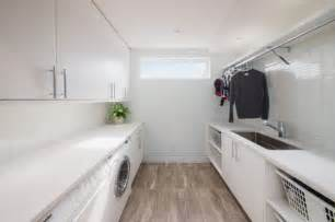 Awesome Rugs For Small Rooms #4: White-modern-laundry-room.jpg