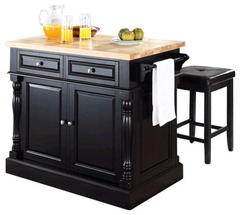 oxford butcher block top kitchen island in black finish by crosley oxford butcher block top kitchen island with