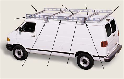Ladder Racks For Vans by Ladder Racks Features System One Aluminum Ladder
