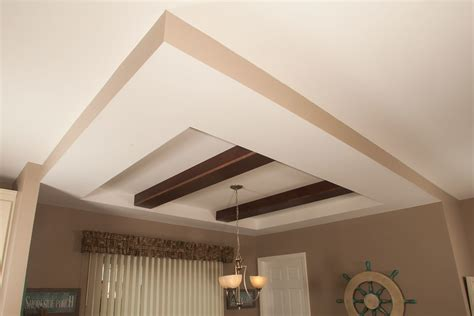 Tray Ceiling Tray Ceiling With Beams Modular Homes By Manorwood Homes