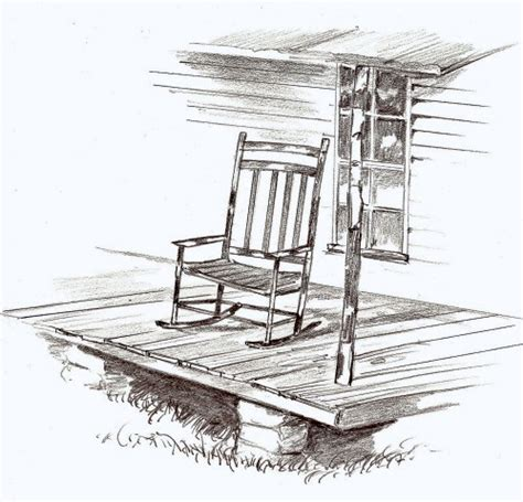 Clipart Of Porches Old Rocking Chair On Front Porch