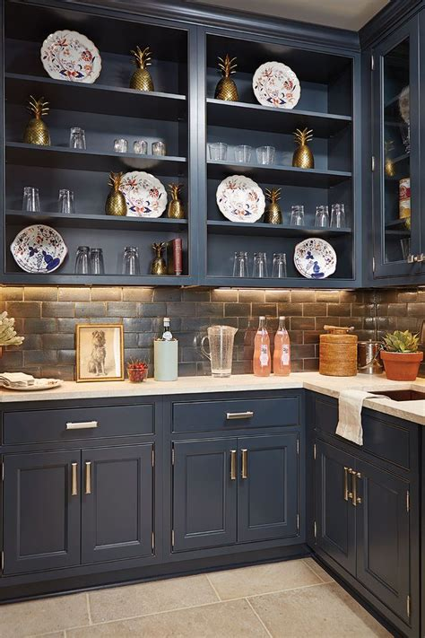 Navy Blue Kitchen Cabinets 475 Best Butler S Pantry Images On Pantry Beautiful And Buffet Hutch