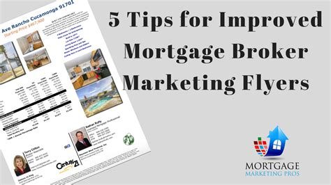 5 Tips For Improved Mortgage Marketing Flyers Mortgage Broker Flyer Template