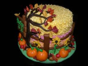 Fall birthday cakes fall autumn quot themed cake for 1st birthday by