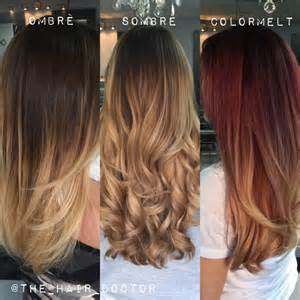 color melt hair technique ombre sombre and colormelt how do they differ news