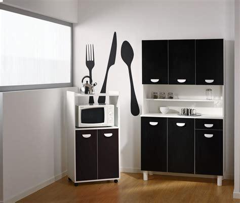 buffet de cuisine noir