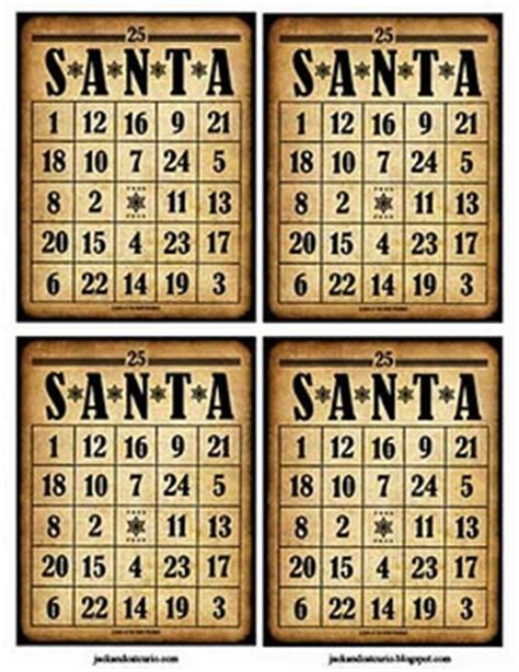 printable santa bingo cards free santa bingo card december pinterest