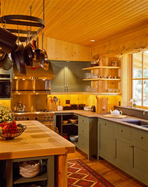 maine c rustic kitchen portland maine by