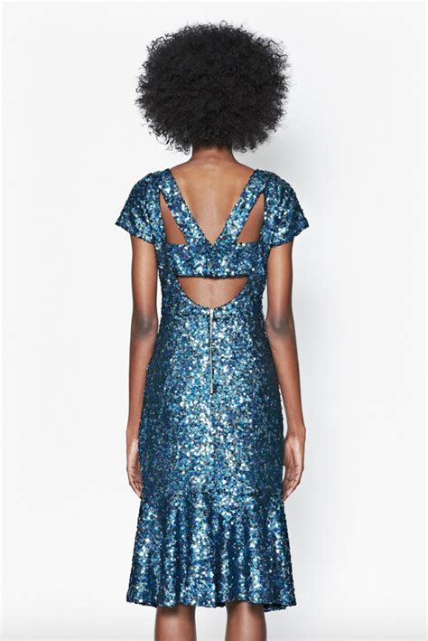 Dress Sirius blue dress connection sirius sequined dress