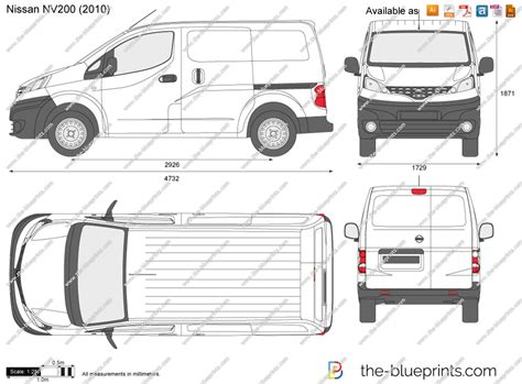 nissan nv200 template nissan nv200 vector drawing