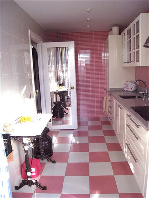 Pink Tiles Kitchen by Modern Pink Kitchens 10 Interior Design Ideas