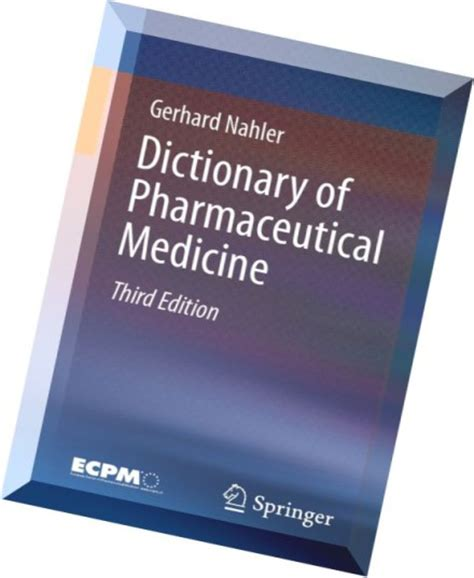 Download Dictionary Of Pharmaceutical Medicine 3rd