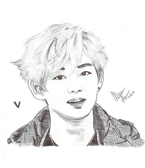 V Drawing Bts Easy by Bts V By Darker Than Dusk On Deviantart