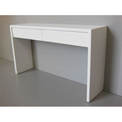 Modern White Console Table With Drawers by Modern Dollhouse Furniture M112 Pods Emerson Console Table With White Base And White Drawers
