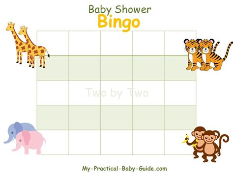 blank baby shower bingo cards template free baby shower bingo cards my practical baby shower guide
