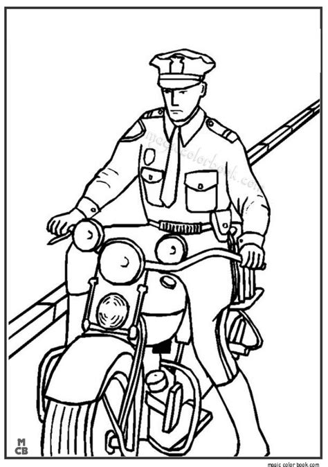 motorcycle cop coloring page police motorcycle coloring pages