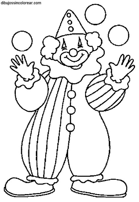 dibujos infantiles para colorear de payasos dibujos de payasos del circo para colorear