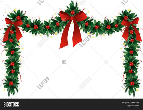 christmas garland stock vector stock photos bigstock