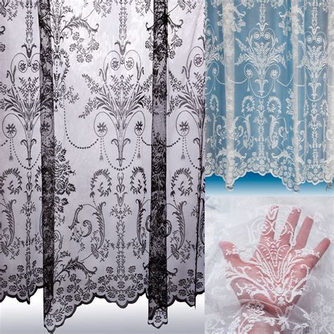 black lace curtains vintage victoria lace curtain boutique damask design sold by