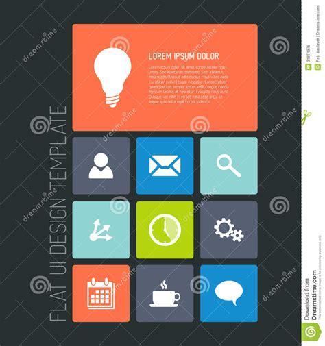 design online mobile modern mobile phone flat user interface stock vector