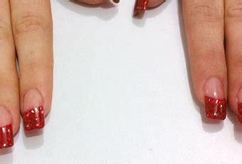 fotos de unas acrilicas rojas u 241 as acr 237 lico cristal en rojo nail art para san valent 237 n