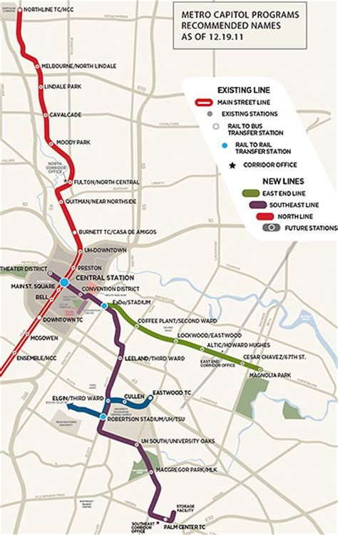 houston map with metro rail either or new metro station names welcome commuters with