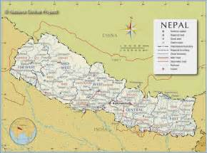 World Map Of Nepal by Political Maps Of Nepal Free Printable Maps