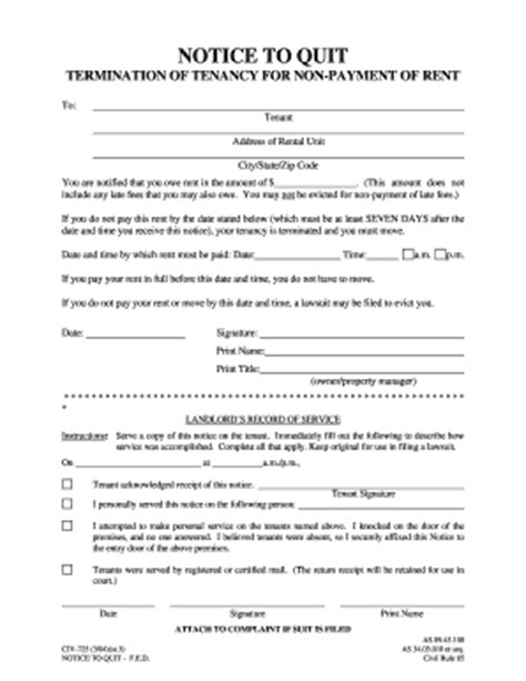 notice quit form fill printable fillable blank pdffiller