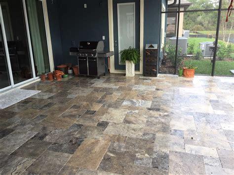 silver travertine patio elite pavers of ta bay