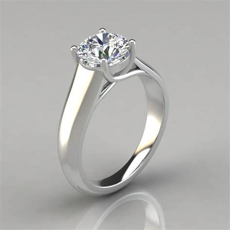 lucida wide band solitaire engagement ring puregemsjewels