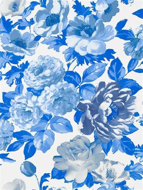 wallpaper blue flowers design 15 flora fauna wallpapers design sponge