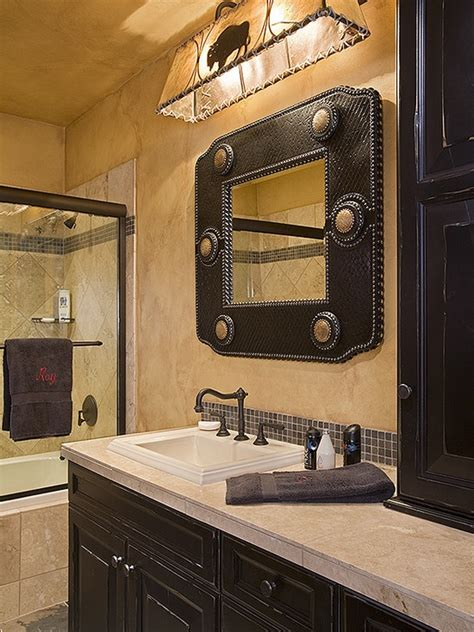 western mirrors for the bathroom western style bathroom best bath ideas pinterest