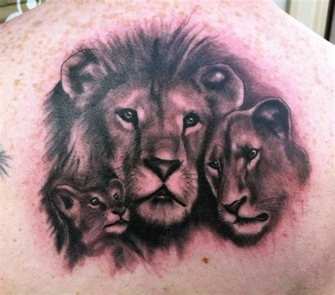 lion family tattoo ideas and designs