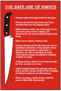 Safety Kitchen Knives by Labelsource Kitchen Safety Signs