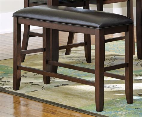 dupree counter height bench 105477 coaster dupree counter height bench dark brown 105477 at