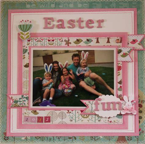 scrapbook layout easter darling pink easter fun page scrapbook com