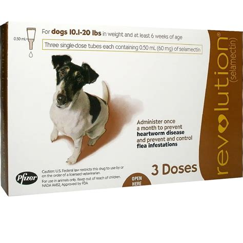 revolution for dogs 5 10 lbs revolution for dogs 10 1 20 lbs 3 doses