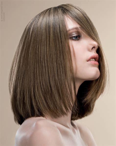 a line haircut medium length medium length a line haircuts sleek shoulder length bob