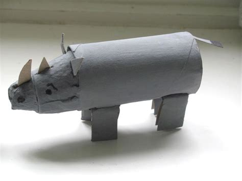 How To Make A Rhino Out Of Paper - 1000 images about trash turned crafts crafts