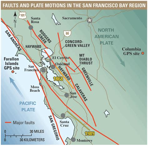 san francisco map lines is a powerful earthquake likely to strike in the next 30