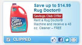 Carpet Cleaner Safeway Rug Doctor 10 Off Rental Amp Free Cleaner At Safeway With