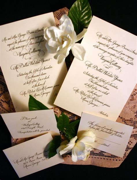 Beautiful Wedding Invitation Letter Beautiful Wedding Invitations Made By Macon Letter In Macon All Invitations And