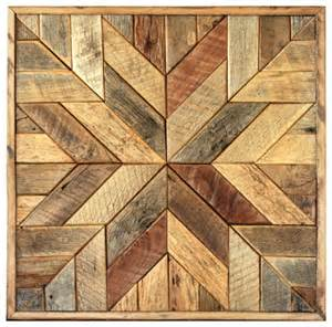 Rustic Wood Wall Decor by Wood Wall Quilt Block 36 X 36 Inches