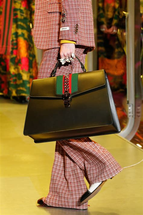 Gucci Floral White Pattern 2017 gucci fall winter 2017 runway bag collection spotted fashion