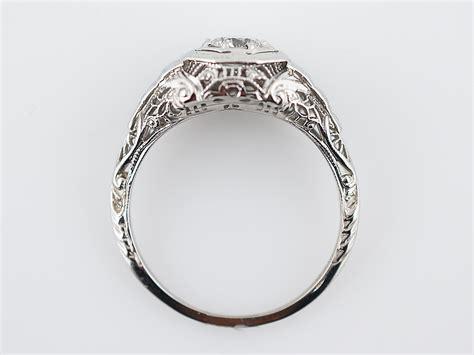 engagement rings vintage deco antique engagement ring deco 49 brilliant cut in 14k white gold